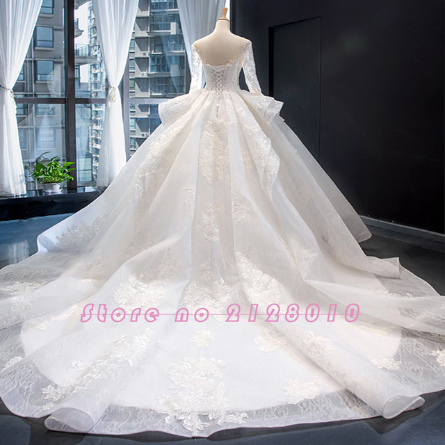 New Arrivals Gorgeous Long Sleeve Beading Lace Wedding Dress China Shop Online Vestido De Noiva Princesa 2
