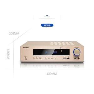 Image 4 - KYYSLB AMPLIFICADOR Bluetooth de alta potencia para cine en casa, dispositivo de cine en casa de 650W, 220V, AK 558, amplificador Hifi Digital, Subwoofer SD, USB