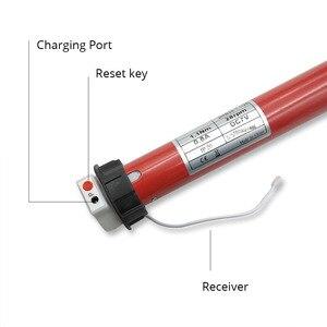 Image 3 - Şarj edilebilir stor perde motoru için adaptör ile 38mm motorlu elektrikli stor perde gölge RF uzaktan kumanda ile çalışmak Broadlink