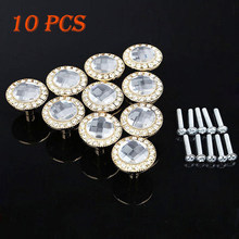 Decoration Handle Diamond Crystal Glass Cupboard Wardrobe Knobs Drawer(China)