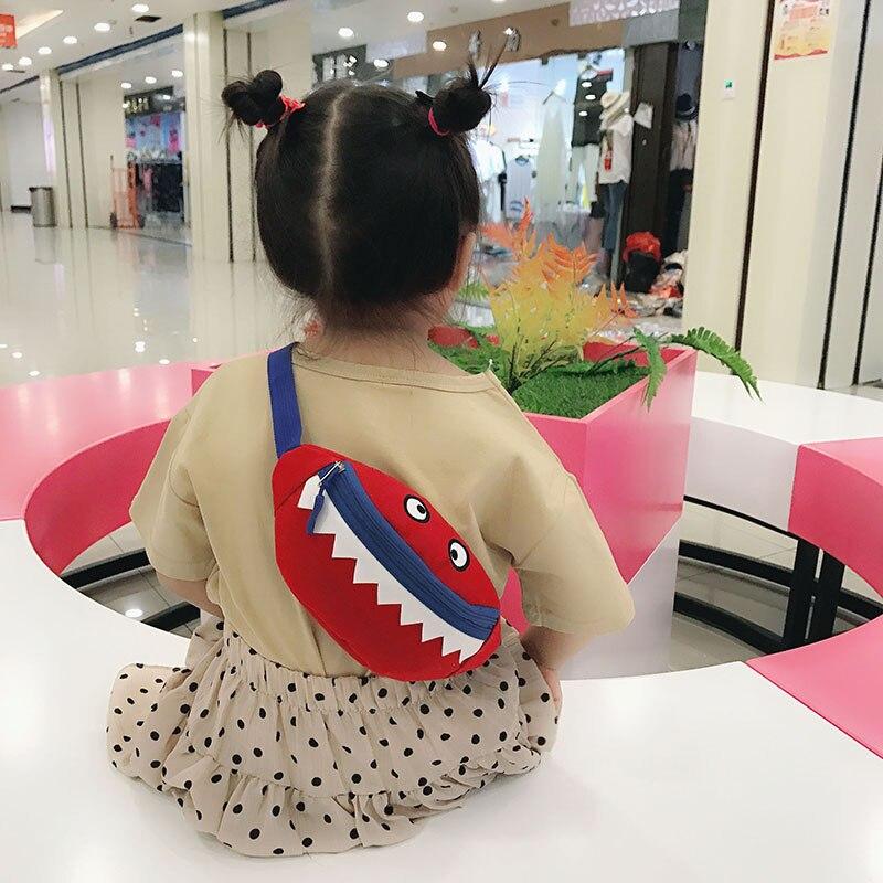 Children's Cartoon Waist Bag Cute Kids Belt Bag Girl Shoulder Crossbody Chest Bag Child Fashion Fanny Pack Banana Hip Purse