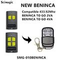 Beninca TO. GO2VA/TO. GO4VA пульт дистанционного управления гаражной дверью Расширенный прокатный код 433,92 МГц передатчик ключ Fob