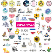 56pcs Summer PVC Stickers Toys Decor for Car Laptop Pad Phone Trunk Skateboard Guitar Bicycle Motorcycle a0023 superman logo dream anime kids recognition toy stickers for diy car laptop skateboard pad bicycle ps4 phone decal trunk