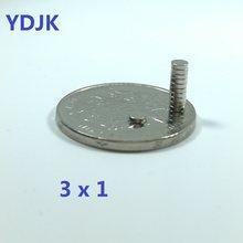 100 PÇS/LOTE Industrial materiais magnéticos 3x1 3*1 disco ímã de Neodímio ímã forte N35 ndfeb para speaker