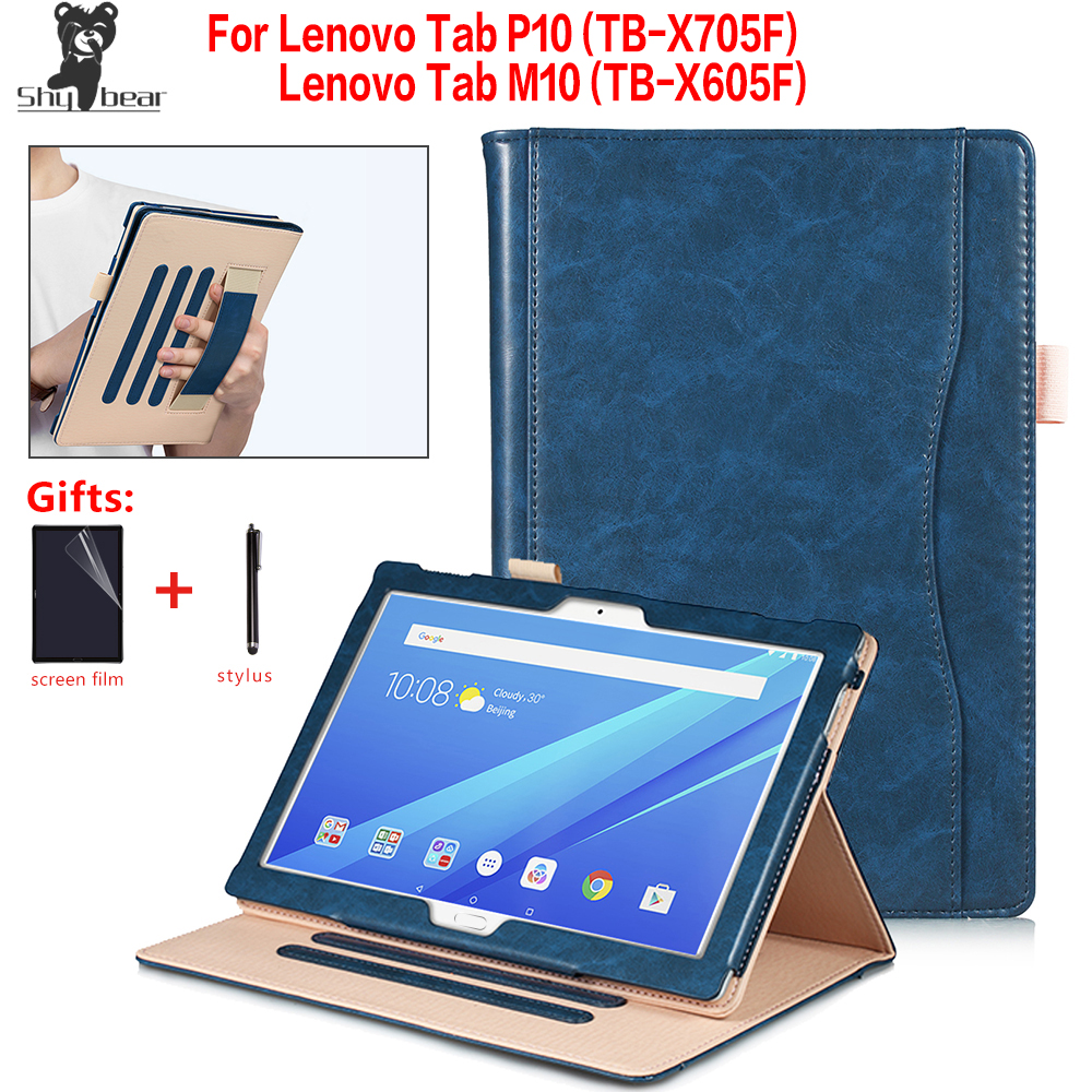 High Quality Universal Case For Lenovo Tab M10 TB-X605L/F Magnetic Case For Lenovo Tab P10 TB-X705L/F  Tablet Stand Cover Funda