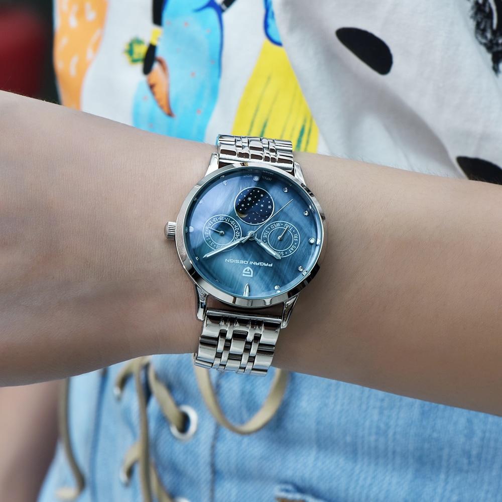2020 free drop shipping PAGANI DESIGN Brand Lady Fashion Quartz Watch Women Waterproof 30M shell dial Luxury Dress Watches Relogio Feminino xfcs (38)