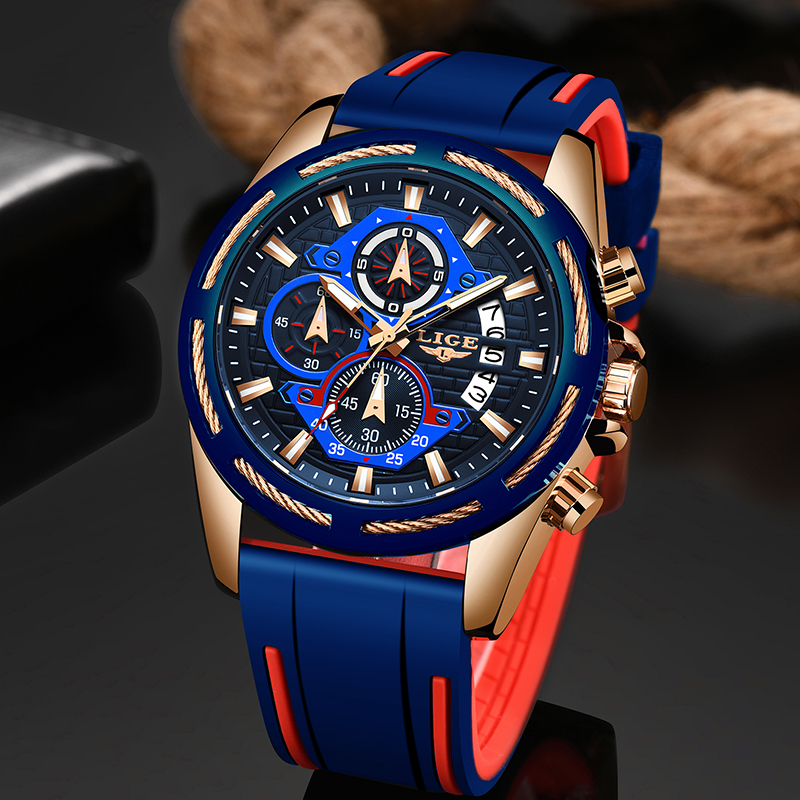 Relogio Masculino LIGE Fashion Mens Watches Top Brand Luxury Military Sport Watches Men Quartz Date Clock Waterproof Wrist Watch