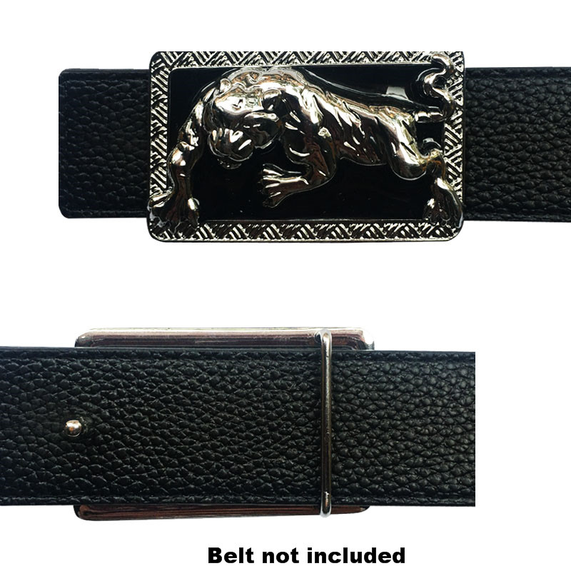 Luxury Animal Leopard Icon Belt Buckle For Men  Metal Accessories For Man