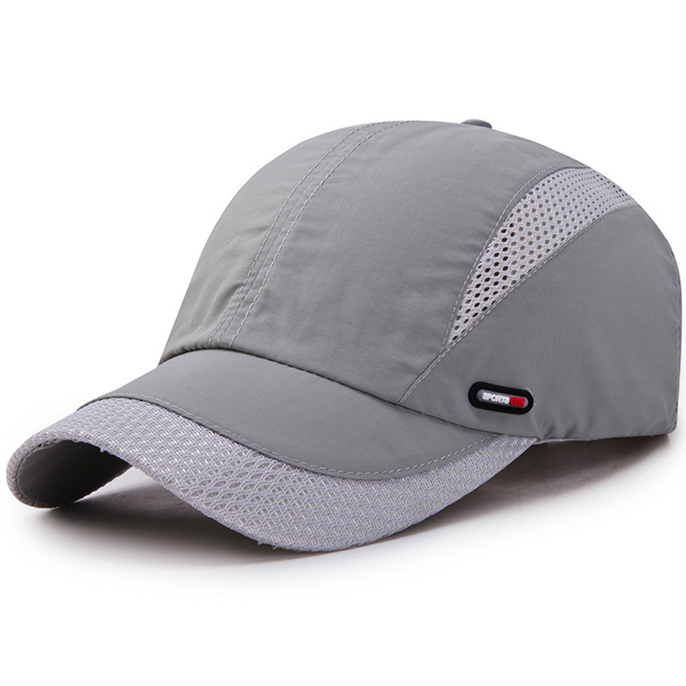 Fashion Men's Wild Hat Outdoor Sports Casual Running Riding Mountaineering Quick-drying Mesh   Baseball     Cap   Simple Solid Hats