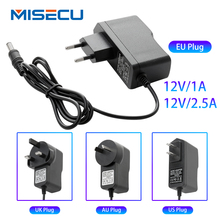 New AC100V 240V/DC12V 1A/2.5A Output Power Adaptor 50/60HZ, Wall Charger DC 5.5mm x 2.1mm EU/AU/UK/US Plug for CCTV Camera free