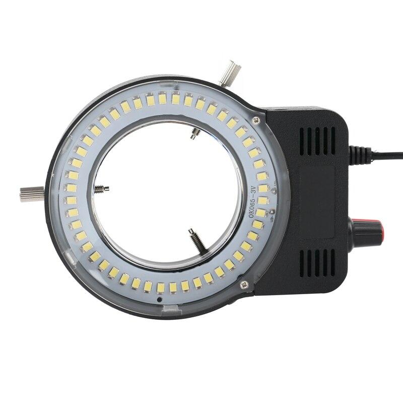 48 LED سمد أوسب قابل للتعديل مصباح مصمم على شكل حلقة إضاءة مصباح لصناعة المجهر كاميرا صناعية المكبر 110 فولت-220 فولت 3 واط-5 واط