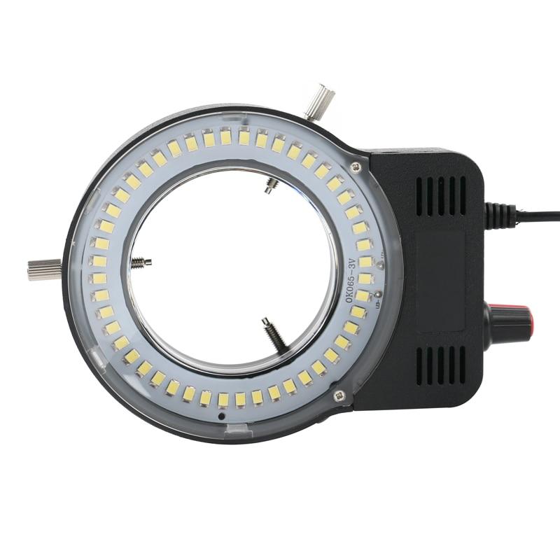 48 LED SMD USB ไฟส่องสว่างวงแหวนปรับแสงสำหรับกล้องจุลทรรศน์อุตสาหกรรมอุตสาหกรรมกล้องแว่นขยาย 110 V-220 ...