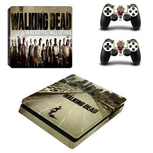 Image 5 - The Walking Dead PS4 Slim Stickers Play station 4 Skin Sticker Vinyl For PlayStation 4 PS4 Slim Console & Controller Skins Decal