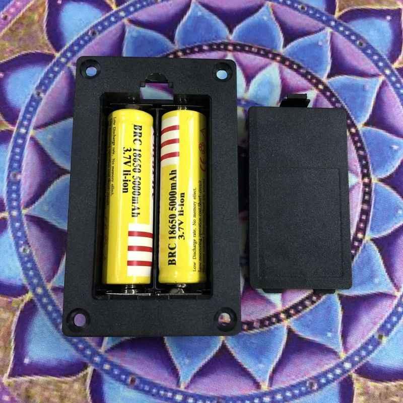 2X18650 Li-Ion Batterie Delle Cellule Della Cassa di Batteria Titolare Box di Stoccaggio Contenitore di Plastica Fai da Te Accessori 634A