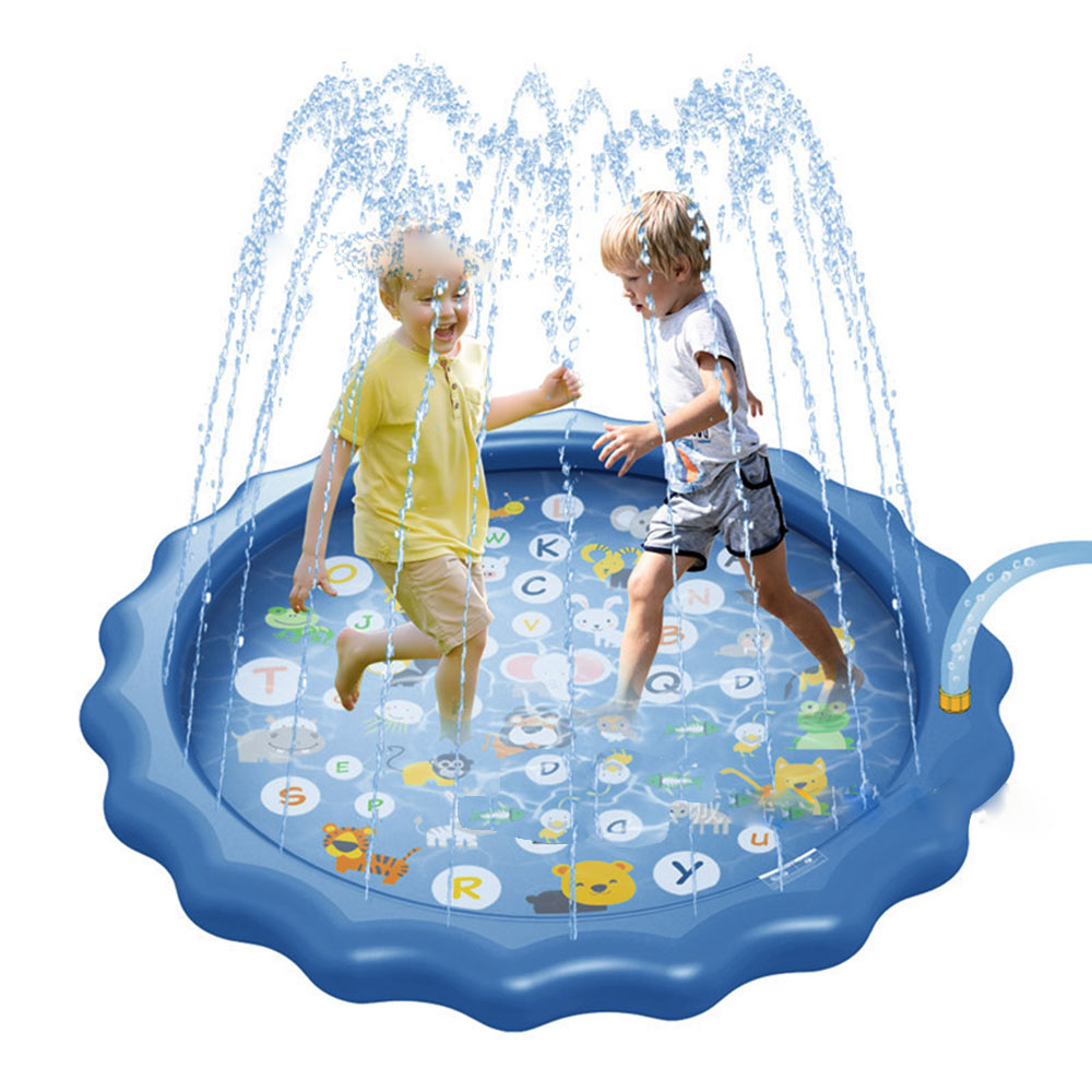 100/150/170cm Children Play Water Mat Inflatable Spray Water Cushion Outdoor Water Splash Play Mat Beach Pad Swiming Pool
