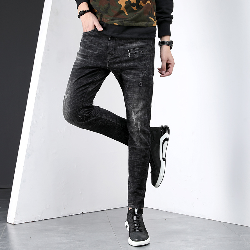 Rivet Men Trend Jeans Loose And Plus-sized Casual Cowboy Harem Pants