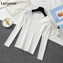 Autumn Sweater Elastic Knitted Pullover