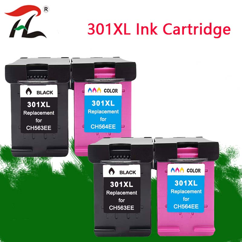 2 set 301XL Compatible ink cartridges for <font><b>HP301XL</b></font> hp 301 CH563EE CH564EE for hp301 Deskjet 1000 1050 2000 2050 2510 3000 3054 image