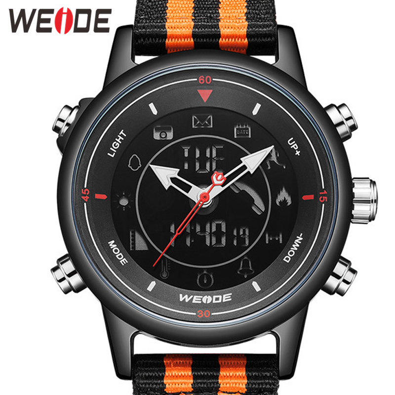 WEIDE Men Watch Relogio Masculino Smartwatch Clock Casual Men Wristwatch Men Alarm Watch Relogio Watch Men Quartz Brand Watch