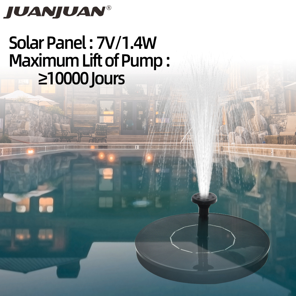 7V/1.4W Solar Panel Powered Pump Water Circulation Solar Fountain Watering Pump Submersibles Pumps Garden Pool Aquarium 30%OFF