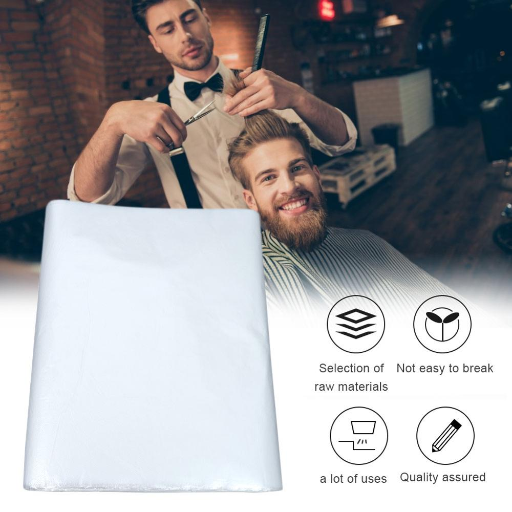 50/100/200Pcs Disposable Hairdressing Apron Waterproof Transparent Capes PE Cutting Perm Dye Hair Cape Hairdressing Barber Cloth