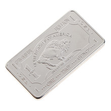 1PC de plata fina menta 1 onza Troy Buffalo Euro de plata Barra de lingote monedas réplica colección