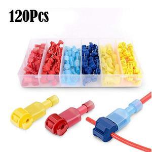 120 шт., быстроразъемные соединители для электрических кабелей, фиксатор соединения, клеммы для проводов, обжимные электрические соединител...