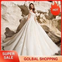 Ashley Carol Princess Wedding Dress 2020 Sexy Sweetheart Cap Sleeve Bridal Dresses Lace Up Fashion Backless A Line Bridal Gowns