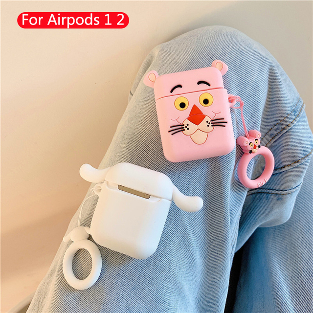 Cute Cartoon Earphone case For Apple Airpods Silicone soft leather cases For Airpod 1 2 accessorie Headset Box Protective Cover