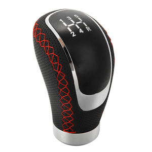 Image 5 - 5 6 Speed Universal PU Leather Gearshift 96x50mm Manual Car Gear Stick Shift Knob Set Durable Replacement for Car Interior Parts