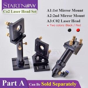 Começnow diy conjunto de cabeça a laser co2, suporte de montagem por espelho de laser, base integrativa para máquina de cortar metal ferramentas