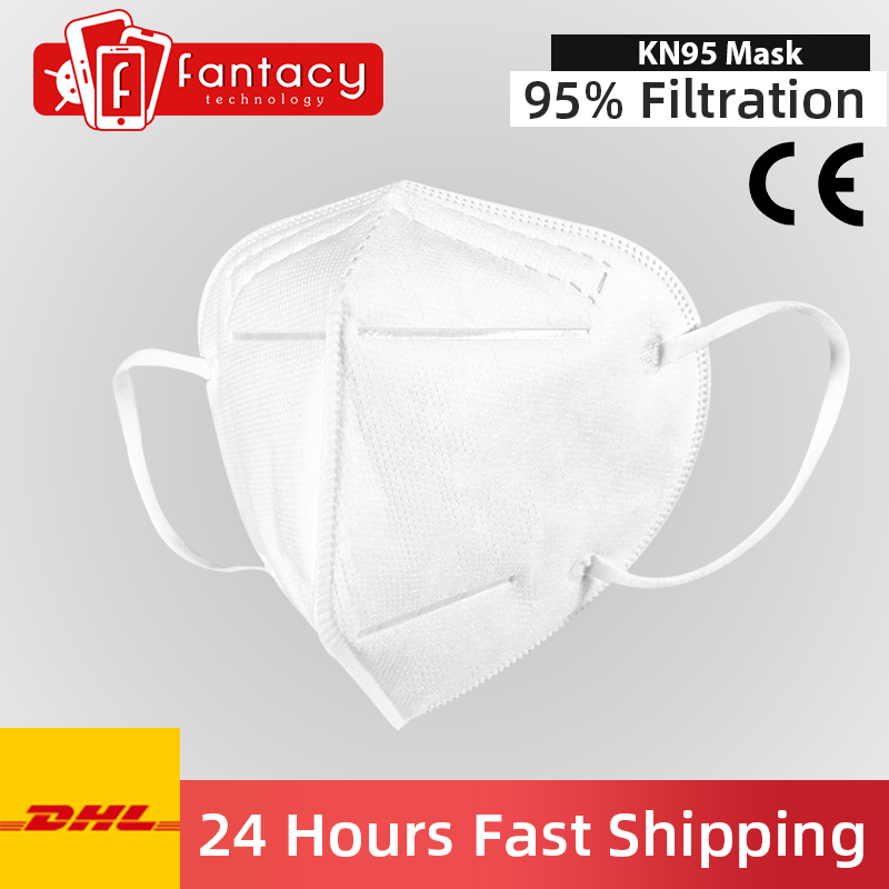 Fast Shipping KN95 Mask Respirator Mascarilla Equivalent FPP2 FFP3 KF94 Nti-fog Mask N95 95% Filtration Anti Infection Face Mask