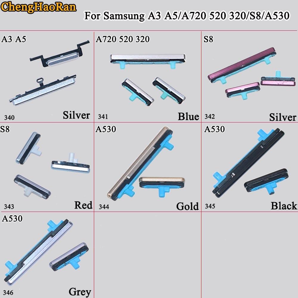ChengHaoRan 1Set For Samsung Galaxy A3 A5 A720 520 320 S8 A530 Phone Housing Frame Volume Power Button Side Key