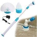 Электрический скруббер с турбо-эффектом, чистящая щетка, беспроводной Перезаряжаемый очиститель для ванной комнаты с удлинительной ручкой...
