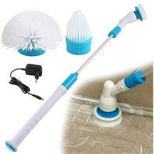 Escova de limpeza elétrica do purificador da rotação turbo esfrega sem fio exigível do banheiro mais limpo com punho da extensão adaptável