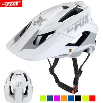 BATFOX-casco de ciclismo para hombre, reflectante nocturno, ultraligero, moldeado integralmente, L/XL