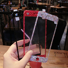 Luxury Rhinestone Tempered Glass Screen Protector Diamond Je