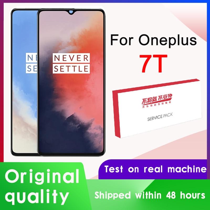 """100% oryginalna wymiana wyświetlacza 6.55 """"dla OnePlus 7T AMOLED LCD montaż digitizera ekranu dotykowego dla ekranu wyświetlacza 1 + 7T"""