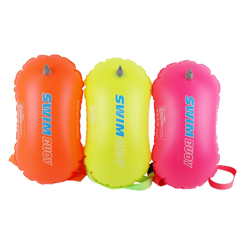 Swimming Buoy Inflatable Safety Float Bag Double Airbag Swimming Float Air Dry Bag For Water Sport Swimming Accessories