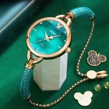 Clock Wrist-Watch Girl Disney Rhinstone-Scale Quartz Micky-Mouse Female Waterproof Casual