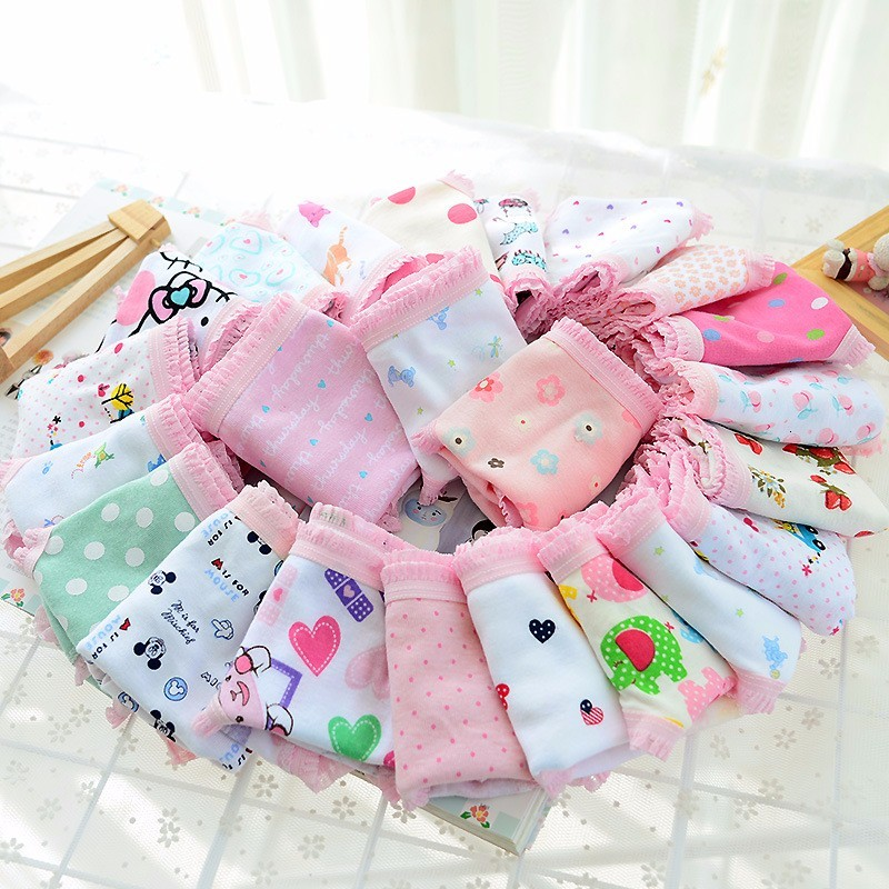 Free Shipping 2018 Baby Girl Panty Cotton Fashion Girls Underwear Kids Cute Cartoon Comfortable Panties Baby Clothing 1PCS
