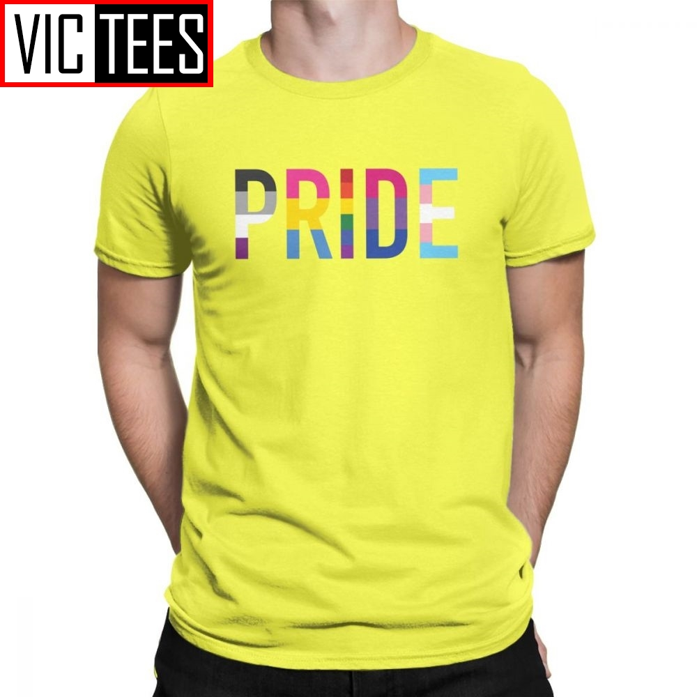 Gay Pride LGBT T <font><b>Shirt</b></font> for Men Pure Cotton T-<font><b>Shirts</b></font> Lesbian Homosexual Asexual Pansexual <font><b>Bisexual</b></font> Tee <font><b>Shirt</b></font> Short Sleeve Tops image