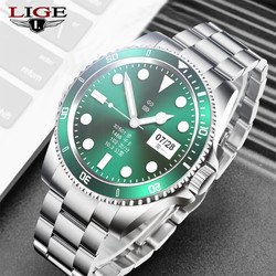 LIGE Smart Watch Men SmartWatch Full Touch Screen Bluetooth Call music player For Android iOS Waterproof Fitness Watches men's