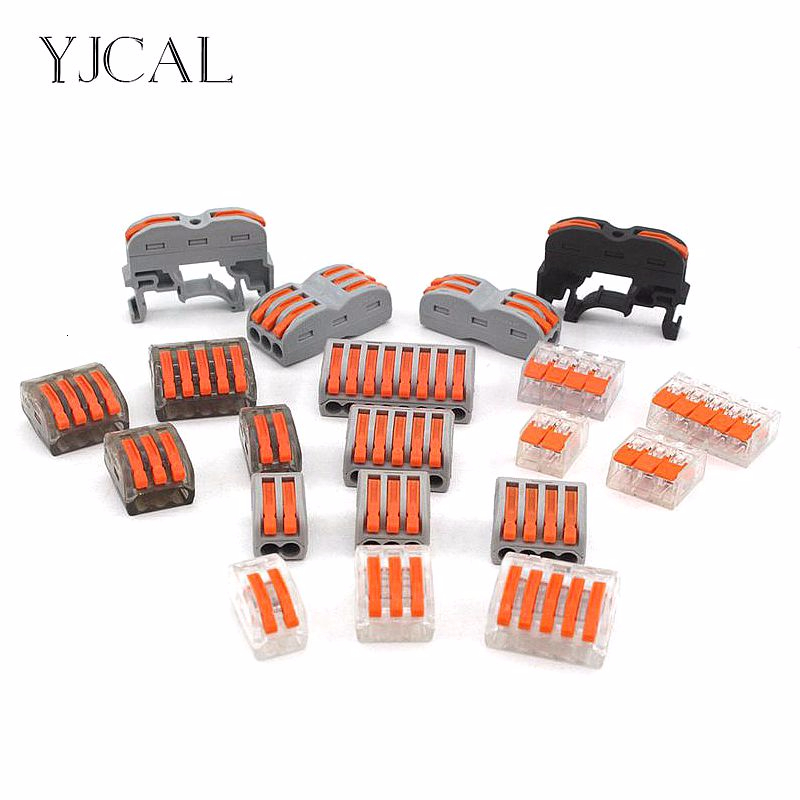 Wire Connectors 222-412 413 415 Mini Cage Spring Universal Compact Fast Wiring Led Strip Cable Conector Push-in Terminal Block