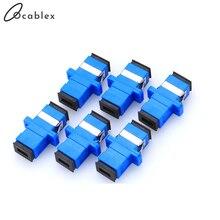 20 pièces/lot SC/UPC adaptateur nouveau SC adaptateur à fibres optiques SC bride coupleur fibre coupleur