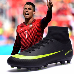 Indoor Soccer Shoes for Men Football Shoes Kids Training Sneakers Original TF AG Spikes Soccer Cleats Futsal Male Football Boots