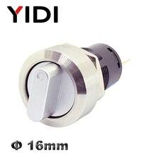 16 мм металлический поворотный переключатель 2 3 положения из нержавеющей стали кнопка включения выключения выключатель SPDT Кнопка 1NO1NC