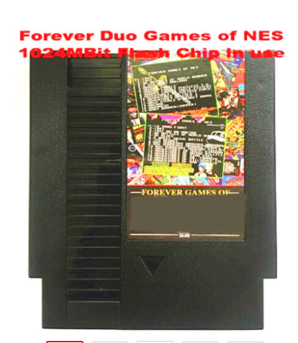 FOREVER DUO GAMES OF NES 852 in 1  405 447  Game Cartridge for NES Console total 852 games 1024MBit Flash Chip in use