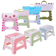 Folding Step Stool Lightweight Step Stool Mini Cartoon Safe Stool for Kitchen, Bathroom, Bedroom, Kids or Adults(China)