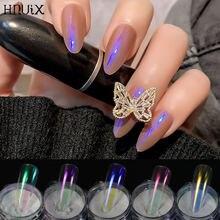 Hnuix 1 коробка жемчужные ногти блеск Аврора жемчужная пудра